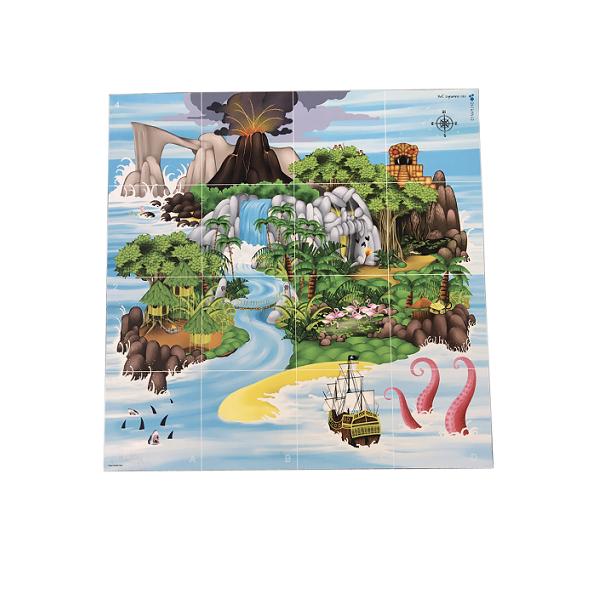 TAPETE ISLA DEL TESORO BEE-BOT Y BLUE-BOOT